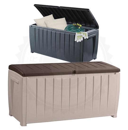 Keter Novel 340l Outdoor Storage Box Patio Garden Tools